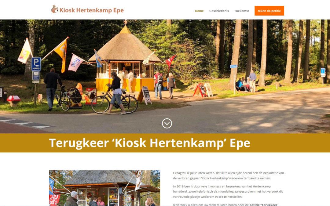 Website terugkeer Kiosk hertenkamp Epe